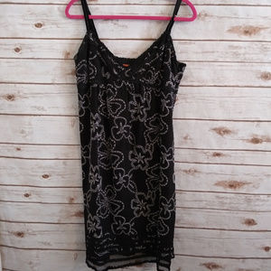 Cynthia Steffe Black Embroidered Dress size 10